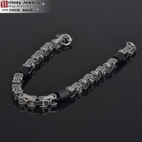 5.0mm width 316L stainless steel men bracelet, fashion stering steel hand chain, high quality link bangle free shipping B131212