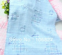Free shipping !  Christmas promotion!  3 pcs /  lot !  34*75 cm soft cheap pink hand towel for sale, simple design