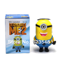 Despicable Me 2  Minions Speaker with FM Radio Portable Mini Speaker MP3/4 Player Amplifier With USB and Micro SD TF card Slot