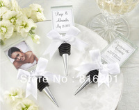 free express shipping Unique Glass Wine Stopper Wedding Favor Gift  100pcs