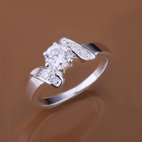 Low Price! Wholesale 925 Silver Plated Sandwiching Stone Ring , Fashion Jewelry Classic Free shipping R155