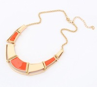 Mix Orders Over 10$ Free Shipping! Fashion exquisite fashion irregular drops of oil necklace squares cxt90464