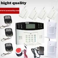 GSM Home Burglar Alarm System With 5 Door Sensors 5 PIR Detector And 4 Remote Control Kit