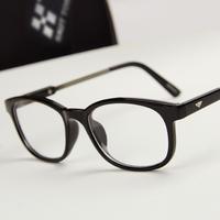 Popular pink glasses fashion glasses myopia Women metal plain mirror