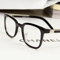 New arrival vintage big box metal glasses frame male big frame plain glass myopia glasses Women