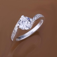 Low Price! Wholesale 925 Silver Plated Inlaid Stone Ring , Fashion Jewelry Classic Free shipping R148