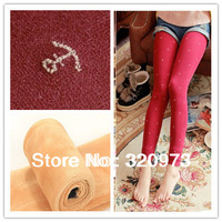 2013  Korea style plus size elastic thick winter cotton print anchor leggings free shipping