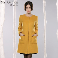 Woolen overcoat outerwear female 2013 autumn women's medium-long wool coat