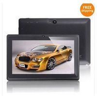 7inch Q88 A23 Dual core tablet pc android 4.2.2 1.5GHz RAM DDR3 512MB ROM 4GB Camera WiFi OTG Freeshipping with screen protector