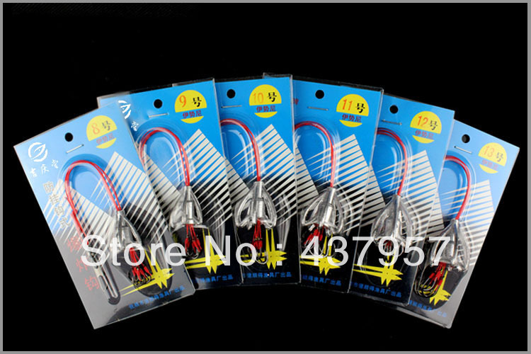 Free shipping Fishing Hooks Mixed Size 8# Sizes Black 6 Fishhook(China (Mainland))