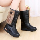 Fashion 2013 winter female cotton boots platform slip-resistant platform snow boots casual boots decoration(China (Mainland))