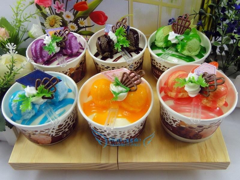 Ücretsiz kargo haagendaz dondurma 6 cupcakes modeli sahne meyve pasta