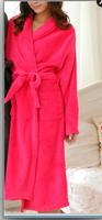 Free Shipping terry bathrobe  Winter coral for women fleece thickening