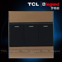 Tcl switch panel socket 86 a8 series switch neon gold