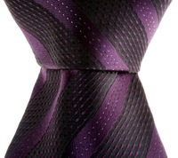 Black Dark Purple Stripe Silk Classic Woven Man Men Tie Necktie TIE204
