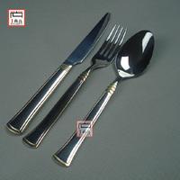Ribbons west tableware ceramic knife and fork spoon handle stainless steel steak knife fork spoon set Tableware suit