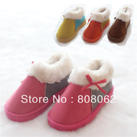 Winter Thicken warm snow boots ladies cotton shoes 6 colors (Yellow, orange, brown, rose red, light coffee color, dark coffee)