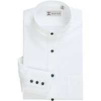 Smartfive men's clothing new arrival autumn stand collar shirt male cotton long-sleeve 100% easy care slim shirt white