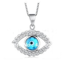 Min Order $ 10 Wholesale Horse Eye Pendants Eyes Clavicle Chain Vintage Punk Evil Eye Women Necklaces Jewelry Free Shipping