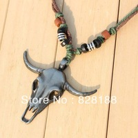 Savagery Vintage Antelope head necklace Guard keeper Fashion men jewelry Free shipping