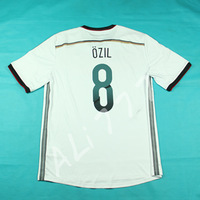 14 World Cup Deutschland Futball Trikot 3A Thai Quality Promise  Men Home Soccer Uniforms  # 8 OZIL Fashion Black Side Ribbon