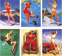 Free shipping (16 pcs/set; 5 sets/lot) Master Gil Elvgren's  United States nostalgic poster girl postcards /102*142mm