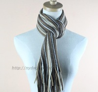 Fashion benzini winter stripe knitted yarn male Women scarf