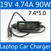 Laptop Car charger 19v 4.74A 90w power adapter For hp 4411S 4416S G4 CQ40 CQ45 CQ62 nx6130 nc6230 ze2500