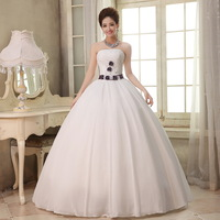 2013 princess tube top the bride wedding dress plus size white autumn and winter