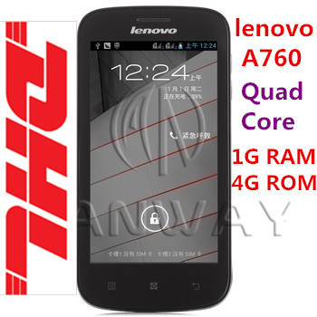 "DHL Free shipping Lenovo A760 Snapdragon 4.5"" IPS Screen 1G RAM 4G ROM GPS Android 4.1 Quad Core MSM8225Q Smart Phone(China (Mainland))"