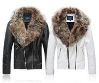 winter fashion men's big wool collar Plus cotton and wool keep warm fur Jacket