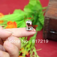 Silver Super mini Small handle nail pacifier jewelry box drawer handles knobs white head monk decoration 10*13mm
