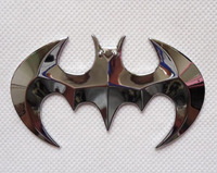 Free shipping Silver 3D bat metal car stickers 901978-MCZC-036