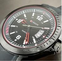 CURREN 2014 watches men fashion  quartz calendar top brand luxury watch rubber watchband Freeshipping