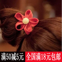 Hair accessory zipper flower headband flower hair rope fashion gold buckle tousheng hair accessory small accessories