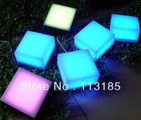 1W Solar LED Brick Light CE&RoHS 5 Years Lifespan IP68 Outdoor LED Brick Lamp DHL Free Shipping