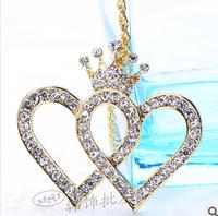 David jewelry wholesale X207  love necklace fashion lady necklace double necklaces pendants necklaces pendants gold