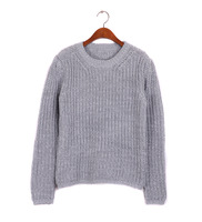 New sale !2014 spring grey color women clothing korean style sweater long-sleeved ladies pullovers,free shipping