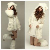New Womens Long Sleeve Winter Fluffy Hoodie Faux Fur Jacket Coat Overcoat