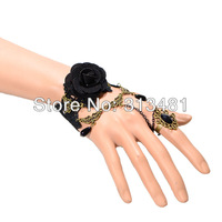 Wholesale 12pcs/lot Bracelet vintage Palace Lace bracelet set   Rose Flower bangles bracelets sets Z2T13