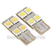 2pcs 4 SMD LED T10 168 W5W 5050 194 Car White Wedge Dashboard Light Lamp Bulb 12V