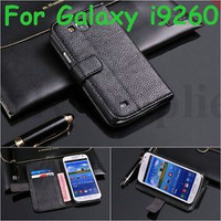Lichee Leather Flip Cover Wallet Stand Case for Samsung Galaxy Premier I9260