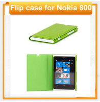 For nokia 800 2013 new  flip design new design leather flip bag for nokia 800 with free shipping from aliexpress shenzhen