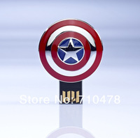 LP10 8GB 16GB 32GB 64GB Full Capacity Avengers Captain America Shield  USB 2.0 Memory Flash Pen Drive Car/Thumb/Pen