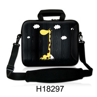"Free Shipping, Neoprene 10""13""14""15""17"" Cartoon Giraffe Design Laptop Shoulder Bag Sleeve Carrying Soft Handle Notebook Case"