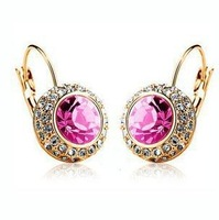 New Style Fashion Jewelry Generous And Shining Round Earring Studs Women's Earring Stud AC004