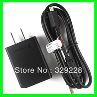 10pcs New Micro USB Data Cable + US AC Adapter Wall Charger For Sony Ericsson Xperia LT26i, ST21i, LT29i, ST21a Free Shipping