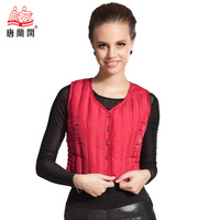 Seamless thermal down vest Women slim sleeveless vest down liner