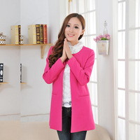 2013 autumn and winter fashion slim medium-long plus size clothing Women trench outerwear