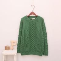 1121 vintage , dsmv twist knitted sweater pocket